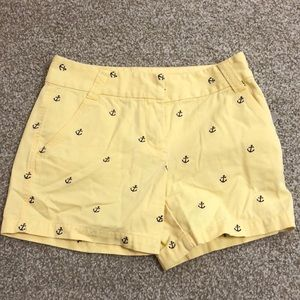 NEVER WORN J. Crew anchor shorts